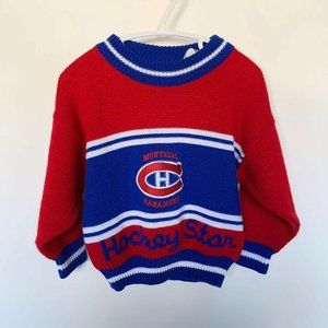 NHL Montreal Canadiens Kids Knitted Sweater 4T